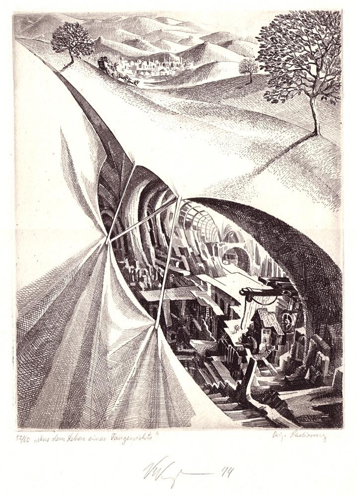 Aus dem leben eines taugenichts nach eichendorff 1974 25 x 18 cm